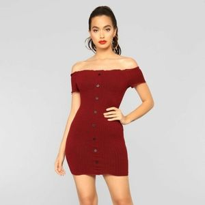 "Fashion Nova ""KATHERINE"" Off-the-Shoulder Dress"
